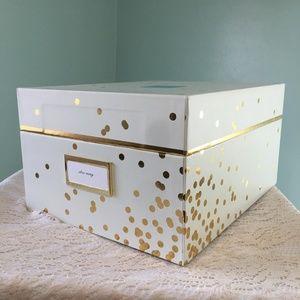 New Kate Spade Small Confetti Dot Gold Nesting Box